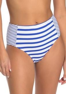 Tommy Bahama Beach Glass Stripe High Waist Bikini Bottoms