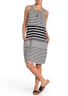 Tommy Bahama Beach Glass Stripe Lace-Up Dress