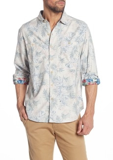 Tommy Bahama Beachy Palms Long Sleeve Hawaiian Shirt