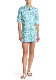 Tommy Bahama Boyfriend Cover-Up Shirt Dress