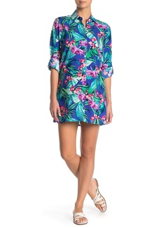 Tommy Bahama Boyfriend Cover-Up Shirt