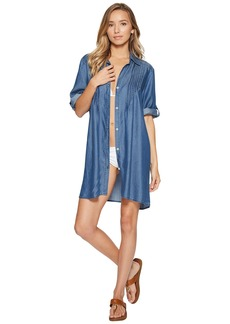Tommy Bahama Chambray Pintuck Tunic Cover-Up