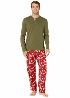 Tommy Bahama Cheers Long Sleeve Flannel PJ Set