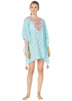 Tommy Bahama Coral Cabana Embroidered Tunic