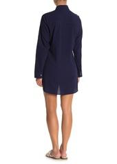 Tommy Bahama Crinkle Boyfriend Shirt Dress Cover-Up