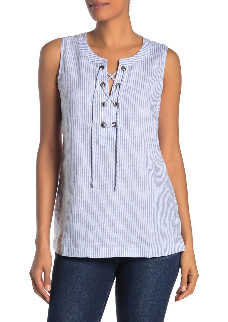 Tommy Bahama Crystalline Waters Sleeveless Linen Tunic