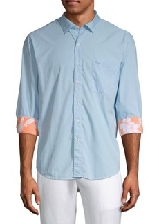 Tommy Bahama Curved Hem Long-Sleeve Shirt