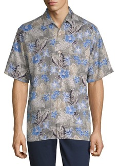 Tommy Bahama Dahlia Beach Silk Button-Down Shirt