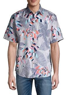 Tommy Bahama Deco Palm-Print Short-Sleeve Shirt