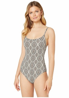 Tommy Bahama Desert Python Over-the-Shoulder One-Piece Maillot