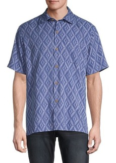Tommy Bahama Diamond Tiles Sport Shirt