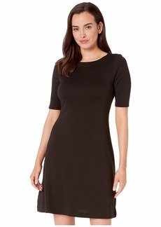 Tommy Bahama Drapey Ponte Elbow Sleeve Dress