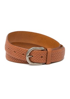 Tommy Bahama Embossed Weave Leather Belt