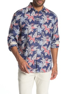 Tommy Bahama Faded Palms Hawaiian Long Sleeve Shirt