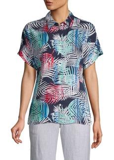 Tommy Bahama Flashing Fronds Print Short-Sleeve Shirt