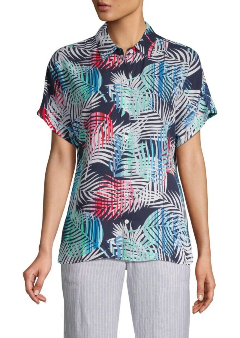 Tommy Bahama Flashing Fronds Print Short-Sleeve Shirt