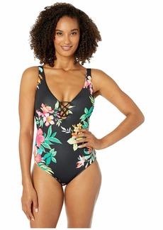 Tommy Bahama Fleur De Flora Reversible One-Piece