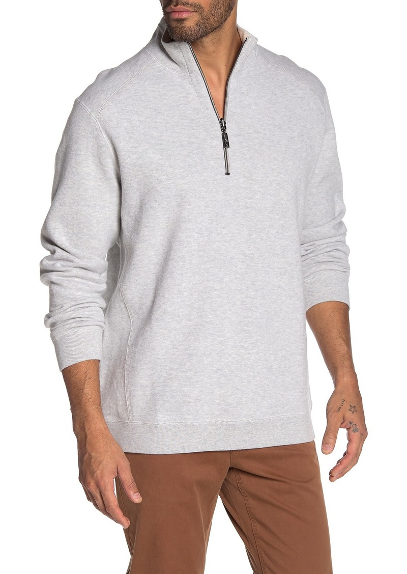 Tommy Bahama Flip Side Classic Reversible Half Zip Sweater