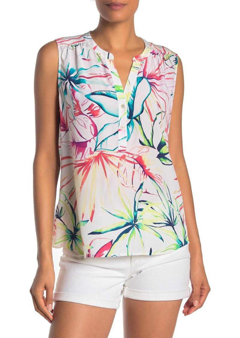 Tommy Bahama Flora Dei Marmi Silk Sleeveless Top
