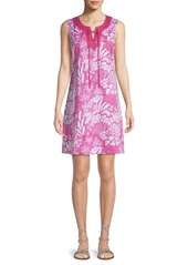 Tommy Bahama Flora Lucia Lace-Up Flare Dress