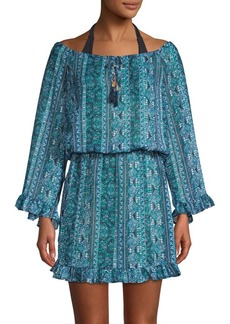 Tommy Bahama Floral Isle-Print Blouson Coverup