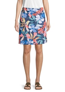 Tommy Bahama Floral Linen Skirt
