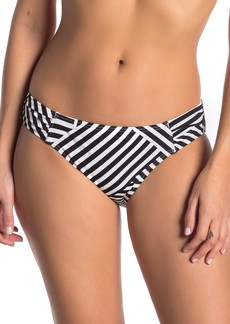 Tommy Bahama Fractured Stripe Shirred Bikini Bottoms