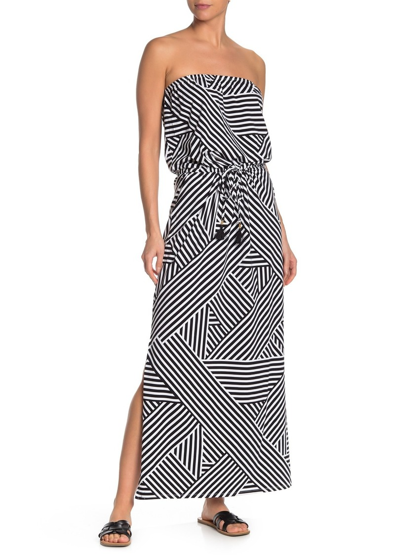 Tommy Bahama Fractured Stripe Strapless Cover Up Dress