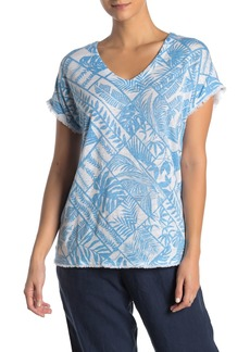 Tommy Bahama Frond Of A Frond Fray Linen T-Shirt