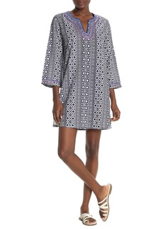 Tommy Bahama Geo Split Neck Dress