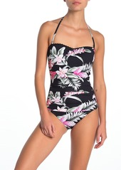 Tommy Bahama Ginger Flowers Bandeau One-Piece Swimsuit