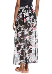 Tommy Bahama Gingerflower Side-Tie Sarong Coverup Skirt