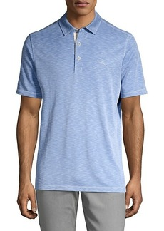 Tommy Bahama Heathered Short-Sleeve Polo