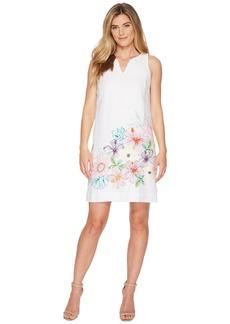 Tommy Bahama Hibis-Sketch Sleeveless Short Dress