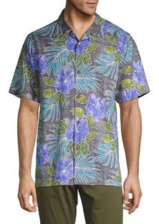 Tommy Bahama Hibiscus Art Silk Short-Sleeve Shirt