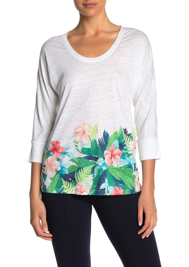 Tommy Bahama Hibiscus Hues Linen Scoop Neck T-Shirt