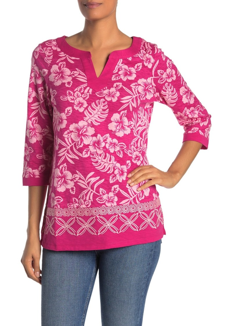 Tommy Bahama Hoani Hibiscus Embroidered Tunic