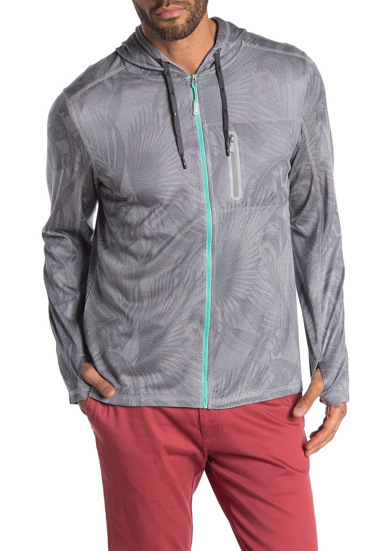 Tommy Bahama Island Active Forte Fronds Tropical Print Full Zip Hoodie
