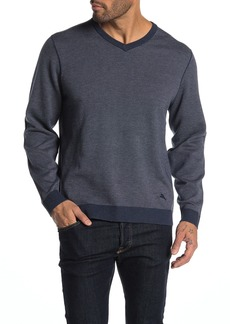 Tommy Bahama Island Fairway Birdseye V-Neck Sweater