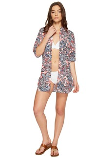 Tommy Bahama Java Blossom Boyfriend Shirt Cover-Up