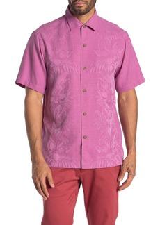 Tommy Bahama Kamari Border Classic Fit Silk  Hawaiian Shirt