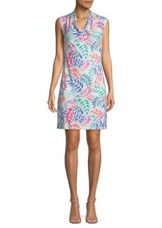 Tommy Bahama Leaf Print A-Line Dress