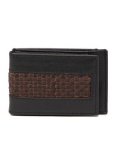 Tommy Bahama Leather Crosshatched Magnetic Wallet