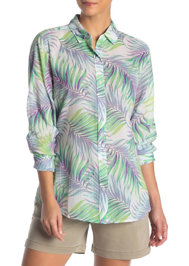 Tommy Bahama Leinani Leaves Gauze Long Sleeve Shirt