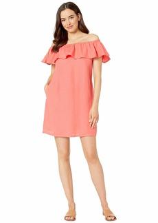 Tommy Bahama Linen Dye Off the Shoulder Dress Cover-Up