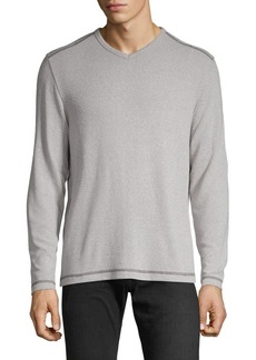 Tommy Bahama Long-Sleeve V-Neck Top