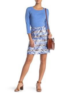 Tommy Bahama Mai Lei Lei Linen Leaf Print Skirt
