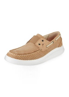 Tommy Bahama Men's Aeonian Perforated Leather Slip-On Sneakers