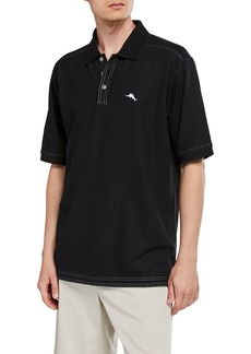 Tommy Bahama Men's Black Custom Emfielder Polo Shirt