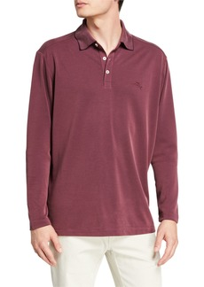 Tommy Bahama Men's Coastal Crest Long-Sleeve Polo Shirt